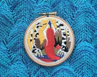 """Rusalka/Mermaid Medieval Illumination Embroidery - 4"""""""