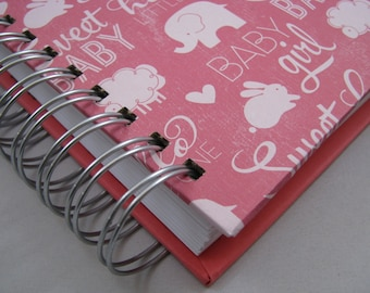 Pregnancy Journal - Maternity Journal - Pregnancy Planner - Baby Book - Mom To Be - Expectant Mom - Line a Day - New Mom Keepsake - Pink