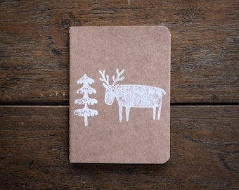 Reindeer Notebook Plain