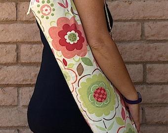 Yoga Mat Bag, yoga tote, GROWTH, handmade yoga mat bag, yoga sac, yoga sack, floral yoga bag, yoga sling, yoga mat carrier, yoga bag