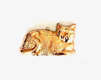 Vintage Copper Cat mould Wall hanging / Kitchen Decor