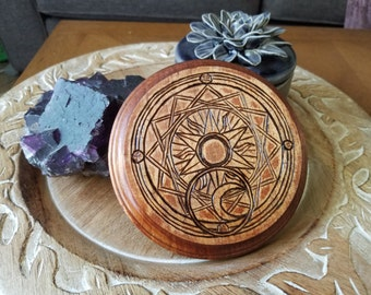 Wood Burn Cardcaptor Sakura Clow Reed Waterproof Coaster