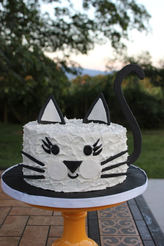 Cat Cake Topper Cat Birthday Cake DIY Cat Cake Cat Birthday