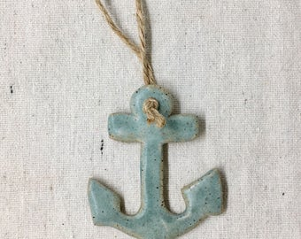 Ceramic Nautical Anchor Ornament
