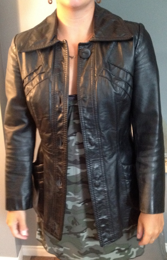 Ladies Vintage Leather Jacket