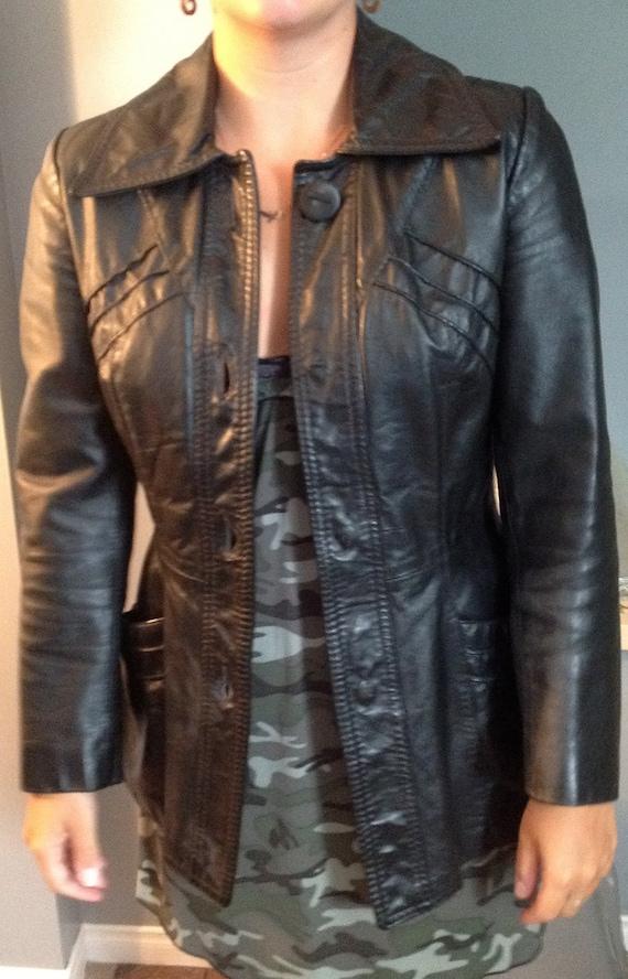 Ladies Vintage Leather Jacket