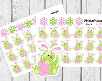 Easter Dinosaur Bunny Planner Stickers and Planner Die Cut PS474