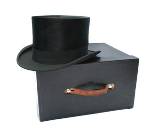 Vintage Beaver Top Hat in Original Box Wichita American Styled 22 inch approx.