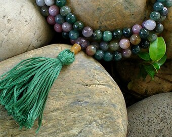 Mala Necklace - Fancy Jasper Full Mala