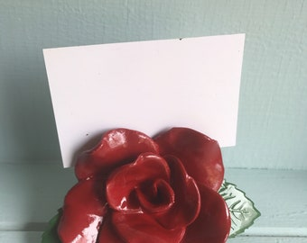 Rose name card holder