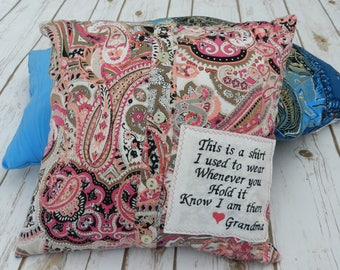 Memory Pillow Cover Made From Button-Up Shirt