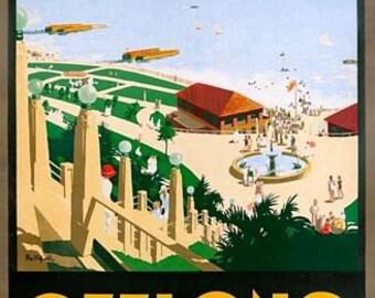 Vintage Geelong Victoria Australian Tourism Poster A3 Print