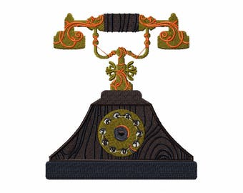 Machine Embroidery Design - Antique Telephone