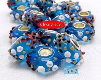 Starfish Ocean Theme Lampwork Glass Beads Big Holes—1 Pc--40% OFF | 6-S510-1