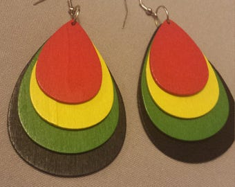 African Tear Drop Earrings