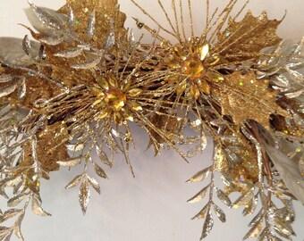 Mardi Gras-Gold Swag-Glitter Swag-Gold Sparkle Swag-Golden Anniversary-Gold Glitter