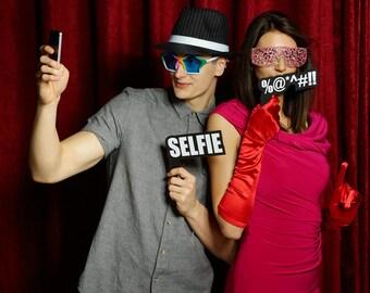SELFIE - Photo Booth Sign for Parties Weddings Wordprop PhotoBooth Prop 013-032