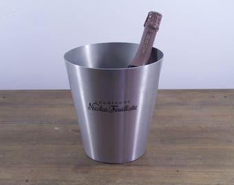 Vintage french Nicolas Feuillatte Champagne ice bucket wine cooler