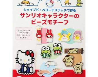 Bead stitch making Sanrio character with beaded pattern collection - Japanese Craft Book