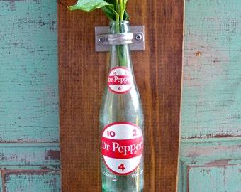 Dr. Pepper  Vintage Bottle Opener Wall Vase