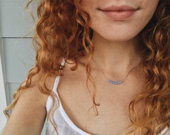 Prayer Necklace / Periwinkle