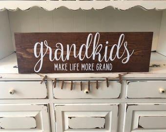 Grandkids Picture Sign/Grandchildren make life grand picture sign