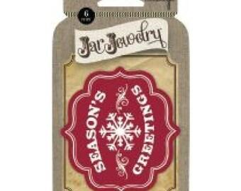 Vintologie Jar Jewelry - Adhesive Labels: Season's Greetings