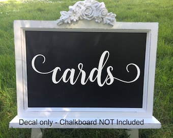 Wedding Cards Decal Wedding Decals Wedding Vinyl Decal Wedding Cards Vinyl Decal Reception Table Bridal Shower Wedding Reception