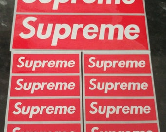 Supreme Stickers Red Block x 10 Mixed Size