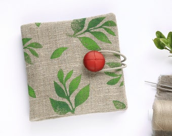 Small Linen Needle Book | Sewing Needle Case | Travel Sewing Kit | Sewing Supply | Needle Storage | Sewing Accessories