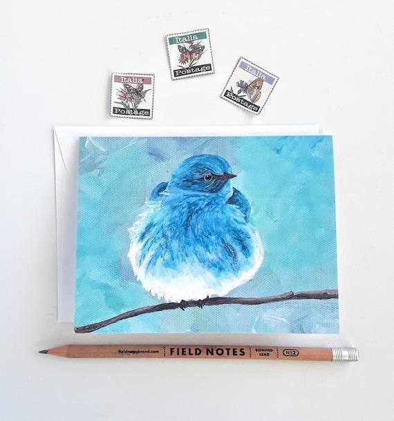 Bluebird card blank greeting card mountain blue bird 4 x m4hsunfo Image collections