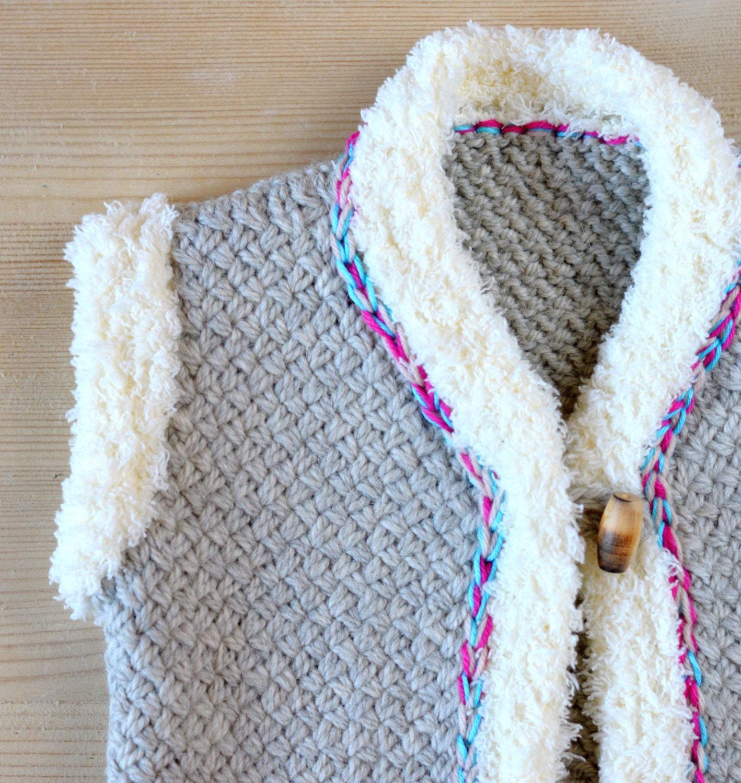 KNITTING PATTERN Baby Vest Mock Shearling Wicker Stitch Knitting ...