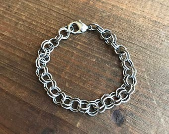 Round Link Chain Bracelet, Silver
