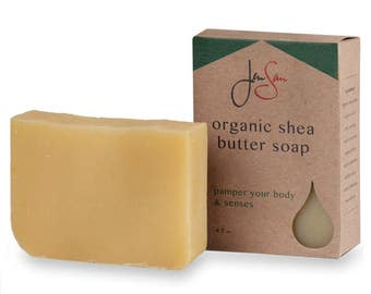 JenSan Lemongrass Organic Soap Bar- Shea Butter 4.5 oz (128 grams )
