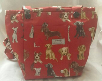 Delightful Dogs Cover this Vegan, Handmade Shoulder Bag.