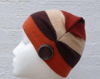 Winter hat wool beanie small womens accessory winter ski beanie boho hat handmade wool ski hat small beanie teen hat chunky striped hat