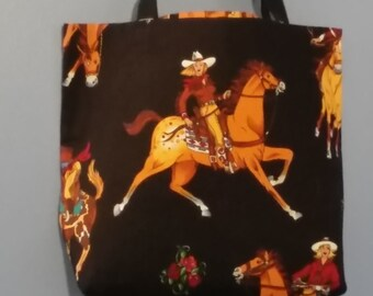 Cowgirl Horse Childrens Totebag
