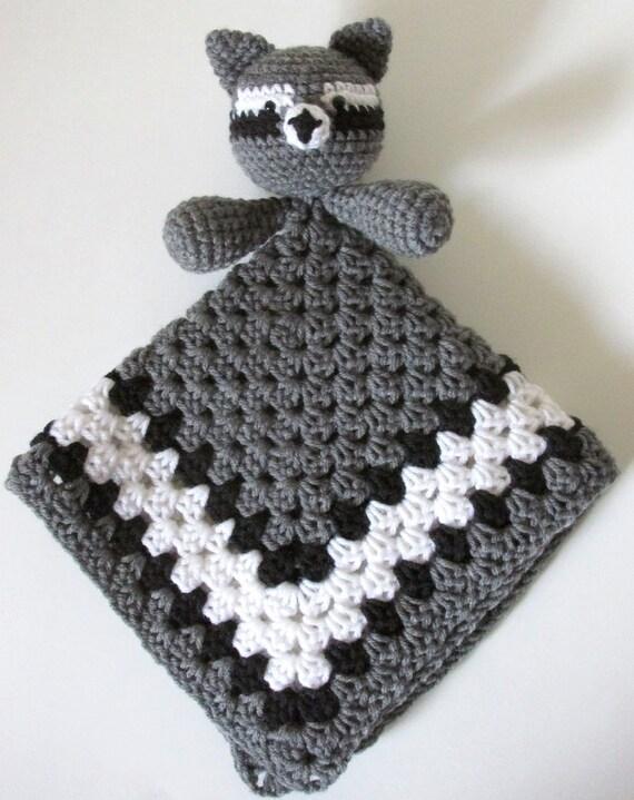Raccoon Lovey PDF Crochet Pattern INSTANT DOWNLOAD
