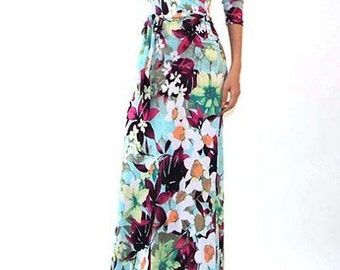 Spring Maxi Dress, Spring Maxi with Belt, Spring Formal Dress, Floral Maxi Dress, Floral Print Maxi, Sping Maxi, Floral Print Long Dress,