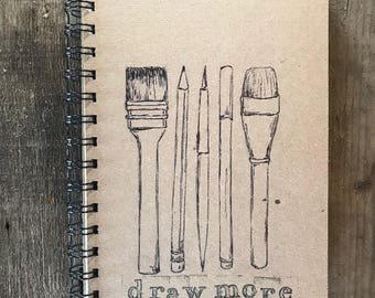 Draw More | Spiral Notebook | Reclaimed Paper | Journal