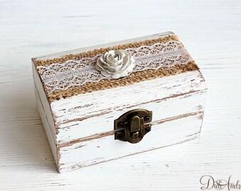 Shabby chic ring box Etsy