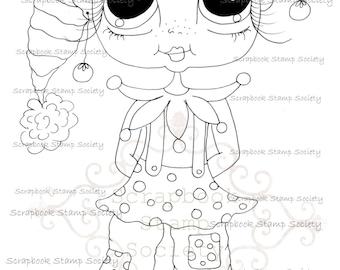 INSTANT DOWNLOAD Digital Digi Stamps Big Eye Big Head Dolls Messy Bessy IMG832 My Besties By Sherri Baldy