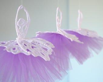 Dancing Ballerina Lace ornament,princess, hanger, ballet, chandelier, tulle,decor,tutu skirts, mobile, decoration,baby,girl.