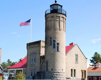 Mackinaw City Lighthouse Magnet-READY TO SHIP