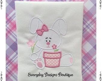 Bunny Girl 5 Machine Embroidery Applique Design