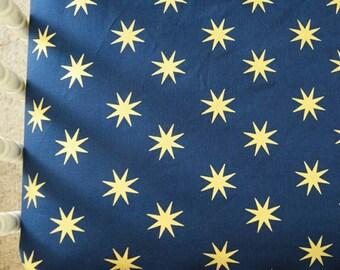 Navy & Gold Bohemian Star Cribsheet