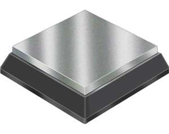 2.5 x 2.5 inch Steel Bench Block with Rubber Cushion - Solid Steel for Handstamping or Riveting