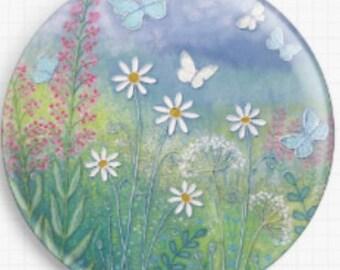 Butterflies, Needle Minder, Cross Stitch Accessory,  Licensed Art, Jo Grundy, CrossStitch Pin Keeper, Fridge Magnet