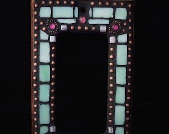 Mint Green and Pink Single Rocker Switchplate