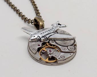 Steampunk jewelry pendant